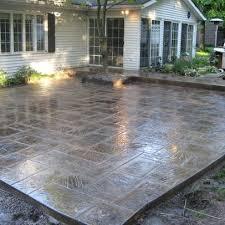 Backyard Cement Ideas Concrete Patio Designs Sted Patios Backyard Ideas Best 25