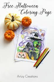 halloween coloring page free halloween coloring page artzycreations com