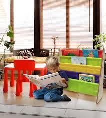 amazon com sorbus kids bookshelf bright primary color pockets