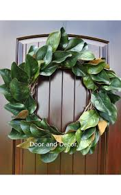 Decorative Wreaths For Home by Amazon Com Handmade Magnolia Leaf Wreath For Front Door Or
