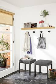 wall hooks add organization and style to any space compass wall hooks used in conjunction with a float shelf create an efficient entryway that doesn t take up floor space