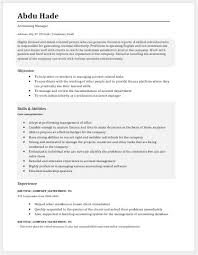 accounting manager resume template accounts manager resume