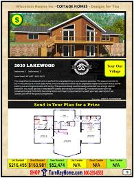 cottage modular home prices from wisconsin homes inc and catalog
