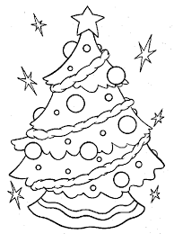 christmas tree coloring pages coloringstar