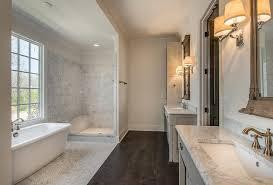 Bathroom Wood Tile Floor Black Brick Herringbone Floor Cottage Bathroom