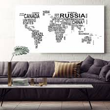 World Map Poster Large Watercolor Exclusive Original Large Size World Map Canvas Print