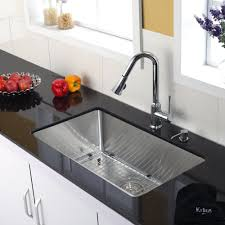 Chrome Kitchen Faucet Stainless Steel Kitchen Sink Combination Kraususa Com