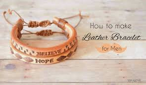 make men bracelet images Vikalpah how to make leather bracelet for men jpg