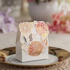 wedding favor boxes wholesale butterfly flower laser cut wedding favor box ewfb080 as low as 0 93