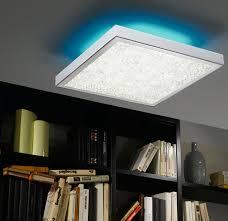 colour changing led ceiling lights cardito remote control large led colour change flush ceiling light 92782