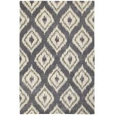 Ikat Runner Rug Area Rugs Amazing Grey Area Rug Diamond Ikat White Geometric