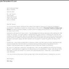 Preschool Teacher Cover Letter Well Cover Letter Template Teacher U2013 Letter Format Writing
