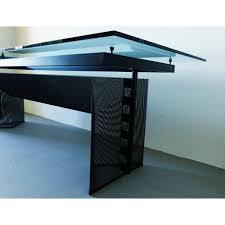 bureau metal et verre table bureau tesi en métal et verre mario botta ées 90