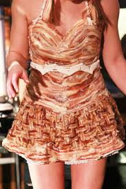 bacon ribbon bacon dress to be worn by the bacon at the blue ribbon