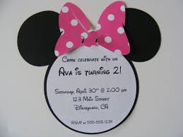 Mickey Mouse Invitation Card Minnie Mouse Invitation Template Birthday Ideas Pinterest