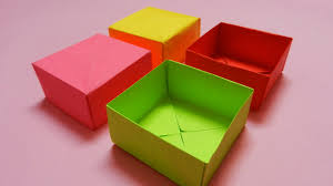 How To Make A Box With Paper - how to make a paper box easy paper box hd tutorial