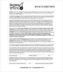 liability release form 10 free sample example format free