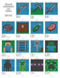 minecraft multiplication and division coloring pages practice