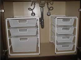Bathroom Sink Storage Solutions Best 25 Sink Storage Ideas On Pinterest Bathroom Sink