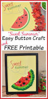 easy watermelon button craft u0026 free printable button crafts