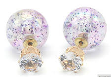 topshop message stud earrings topshop glitter front to back sparkle stud earrings