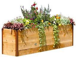 2x8 elevated raised bed contemporary outdoor pots and planters