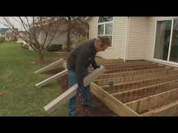 how to install composite decking part 1 installing deck posts