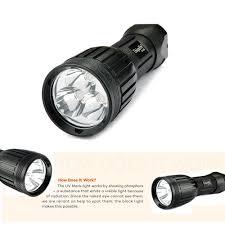 how emergency light works uniquefire 1408 uv395 400nm uv led flashlight rechargeable