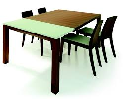 Expandable Dining Room Table Furniture Brown Wooden Expandable Dining Table With Chair Using