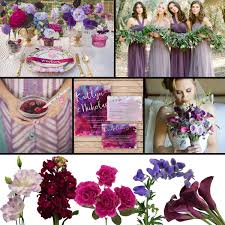 shades of purple wedding color palette fiftyflowers the blog