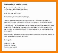 10 business inquiry letter beverage carts