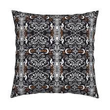 sck halloween colors damask fabric stacyck spoonflower