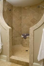 Best Doorless Shower Images On Pinterest Bathroom Ideas - Open shower bathroom design