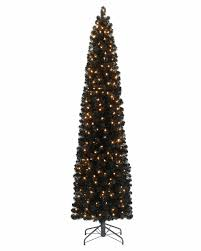 black santa tree ornaments topper with