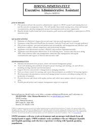 administrative support resume samples administrative support