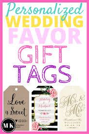 Wedding Gift Tags Miriam Kokolo Personalized Wedding Favor Gift Tags