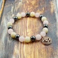 rose quartz stone bracelet images Gentstone women 39 s bracelet om in rose gold cz diamond jpg