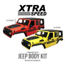 jeep body kits xtra speed jeep body kit for axial scx10 rc4wd tf2 get yours now