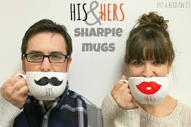 his hers mugs put a bird on it diy his hers sharpie mugs