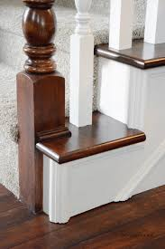 How To Refinish A Wood Banister How To Stain An Oak Banister The Idea Room