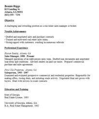 Realtor Resume Example by Effective Samples For Real Estate Resume Sections