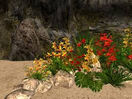 second life marketplace msd tropical shoreline rock garden b