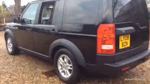 black land rover lr3 land rover discovery 3 tdv6 gs black 2008 youtube