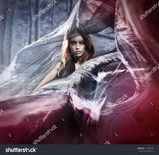 halloween photo young attractive female vampire stock photo