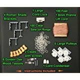 Roman Shade Hardware Kits - amazon com all in one large roman shade hardware kit in ivory