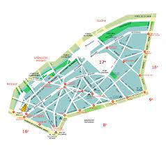 Maps Of Paris France by Neighborhood Maps Of Paris France