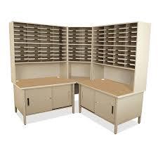 Marvel 100 Slot Corner Mailroom Sorter W Cabinet 7684 H