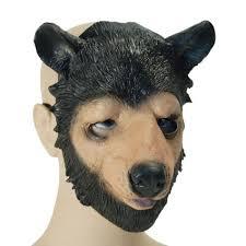 fancy dress rubber bear animal mask bm327