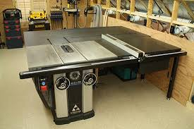 Bench Top Table Saws Delta Unisaw With Custom Outfeed Table Table Saw Pinterest