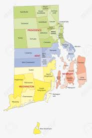 Map Of Ri Rhode Island County And City Map Royalty Free Cliparts Vectors